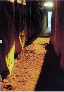 Newgrange solstice passage lights for 17minutes  Megalithic  Passage  Tomb  at  Newgrange built about 3200 BC.