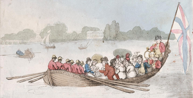 Regency boating party