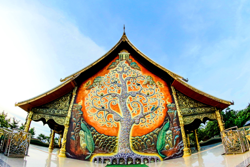 Canva - Tree of Life Embossed Artwork on Structure (1)