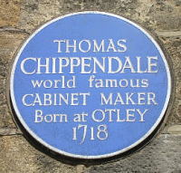 CHippendale_plaque_in_Otley _where_Thomas_Chippendale_was_born