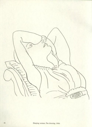 WomanLyingBack-matisse-drawing