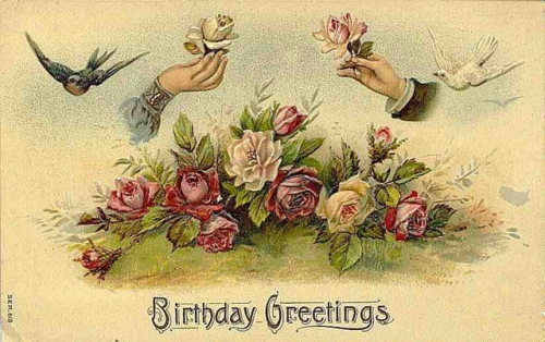 Victorian-vintage-roses-free-birthday-card-birds-hands