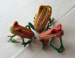Straw frog centerpiece