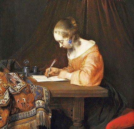 1l Gerard ter Borch  Woman Writing a Letter 1655