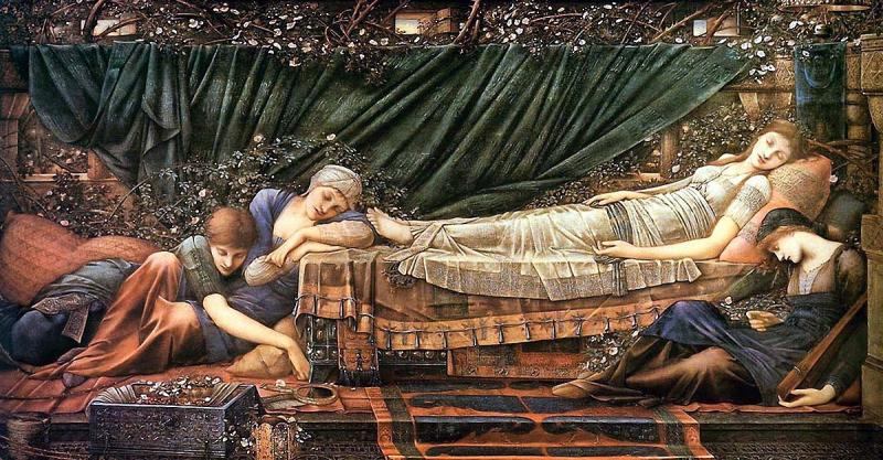 Burne Jones Rose Bower/Sleeping Beauty
