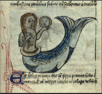 A traditional mermaid