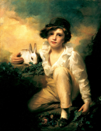 Raeburn _Henry_-_Boy_and_Rabbit_-_1814 _contrast