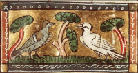 Medieval pigeons and presumably a dove maybe