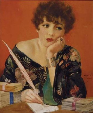 WomanWriting(1940s)HenryClive(Austr)