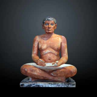 The_seated_scribe c 2500 BCE Louvre