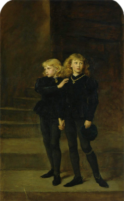 The Princes in the Tower by Millais