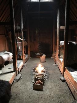 Inside turf house